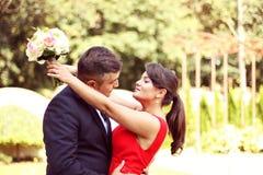 Couple celebrating their wedding day Stock Photography