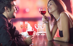 Couple celebrating together Stock Image