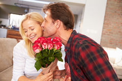 Couple Celebrating Valentines Day Royalty Free Stock Photo
