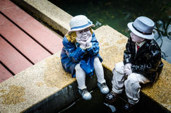 Couple of ceramic dolls Stock Image