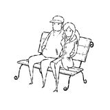 Couple on chair Stock Images