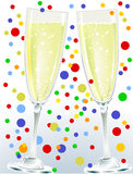 A couple of champagne Royalty Free Stock Images