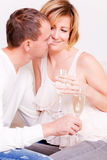 Couple champagne Stock Photography