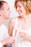 Couple champagne Royalty Free Stock Photos