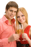 Couple with champagne Royalty Free Stock Photo