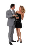 Couple with champagne. Portrait of a couple with champagne Royalty Free Stock Photos