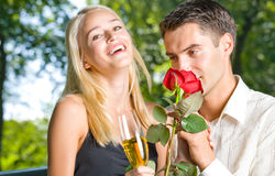 Couple with champagne Royalty Free Stock Photos