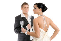 Couple with champagne Royalty Free Stock Image