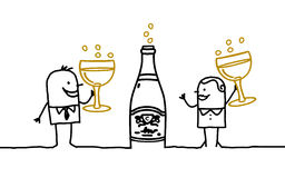 Couple & Champagne Royalty Free Stock Images