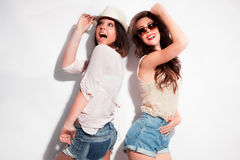 Couple of cheerful girls Stock Photo