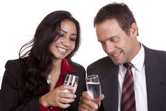 Couple cheers Royalty Free Stock Photography
