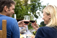 Couple Cheers Love Wine Concept Royalty Free Stock Photography