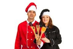 Couple of chefs Stock Photo