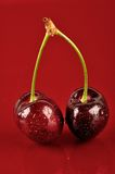 Couple Cherries Royalty Free Stock Image