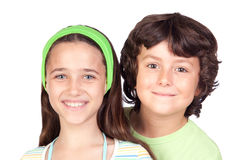 Couple of children Royalty Free Stock Photo