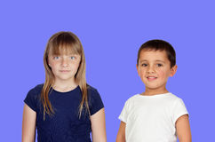 Couple of children Royalty Free Stock Photos