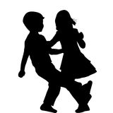 Couple of children dancing Stock Image