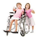 Couple of children handicap problems solving Royalty Free Stock Photo