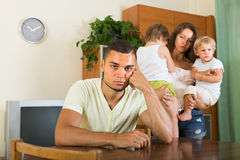 Couple with children having quarrel Stock Photography