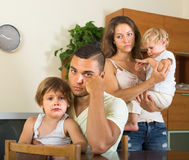 Couple with children having quarrel Royalty Free Stock Photo