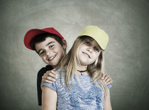 Couple of children Royalty Free Stock Photo