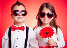 Couple of children Royalty Free Stock Images