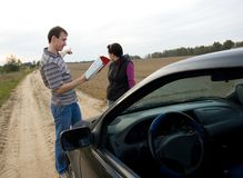 Couple chooses the road Royalty Free Stock Image