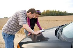 Couple chooses the road Stock Photography