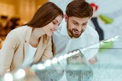 Couple choosing wedding ring royalty free stock photo