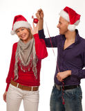 Couple in christmaas time Stock Images