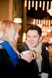 Couple on a Christmas Market Stock Photos