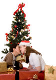 Couple at christmas time Royalty Free Stock Photography