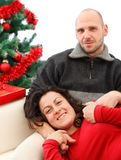Couple at Christmas time Royalty Free Stock Photo