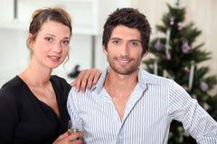Couple at Christmas Royalty Free Stock Photos