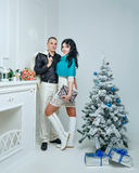 Couple and Christmas Royalty Free Stock Photography