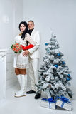 Couple and Christmas Stock Photos