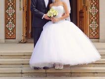 Couple at Church Door Stock Photos