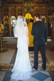 Couple at Church Royalty Free Stock Image