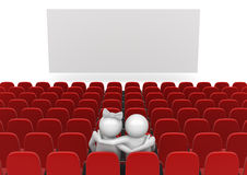 Couple in cinema Stock Photo