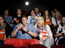 Couple at the cinema Stock Image
