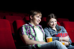 Couple in cinema Royalty Free Stock Photography