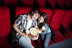 Couple in cinema Royalty Free Stock Images