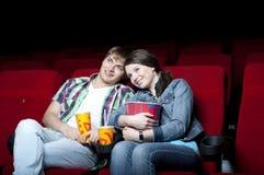 Couple in cinema Stock Image