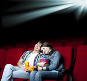 Couple in cinema Royalty Free Stock Photos