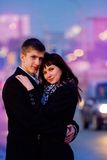 Couple in the city Royalty Free Stock Image