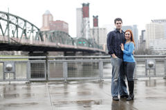 Couple in the city Royalty Free Stock Photography