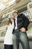 Couple in city Royalty Free Stock Photo