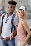 Couple on city break. Couple royalty free stock photos