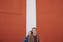 Couple in the city Royalty Free Stock Photo