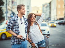 Couple in the city Stock Photo